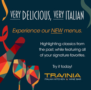 Travinia New Menu
