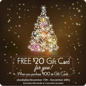 Holiday Gift Cards from Travinia